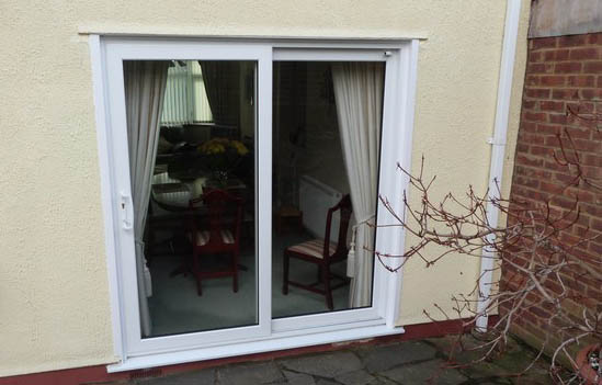 Pvc french doors sliding patio doors by lakeside window for Used upvc patio doors